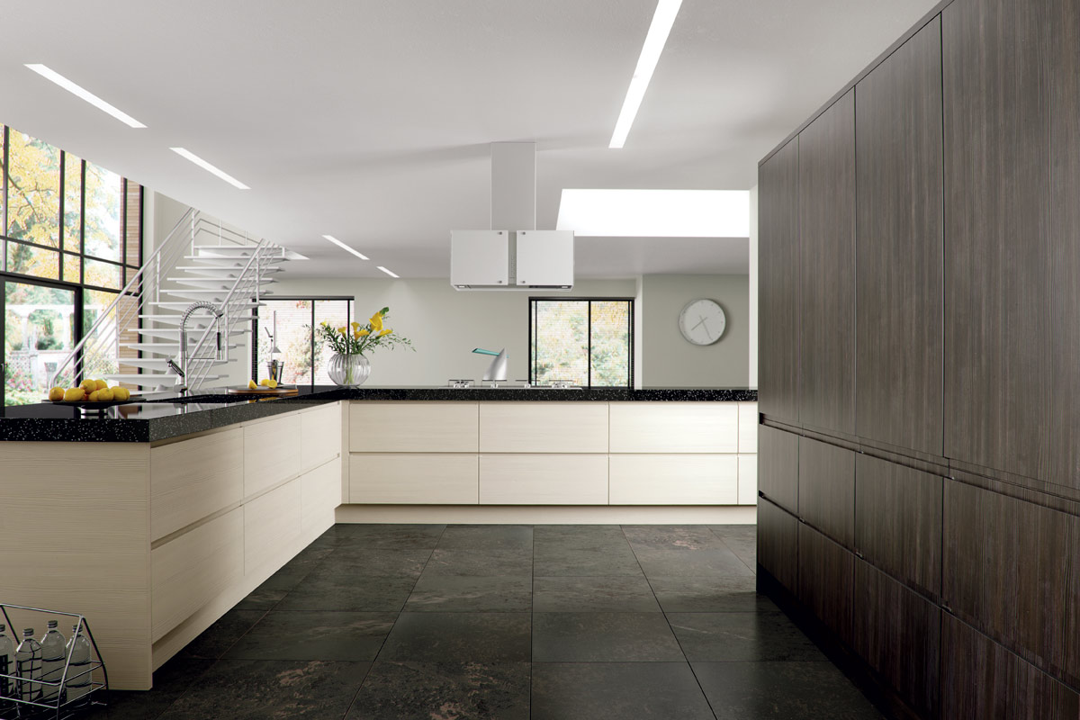 High gloss kitchens dublin fitted kitchens bespoke for Cream and grey kitchen